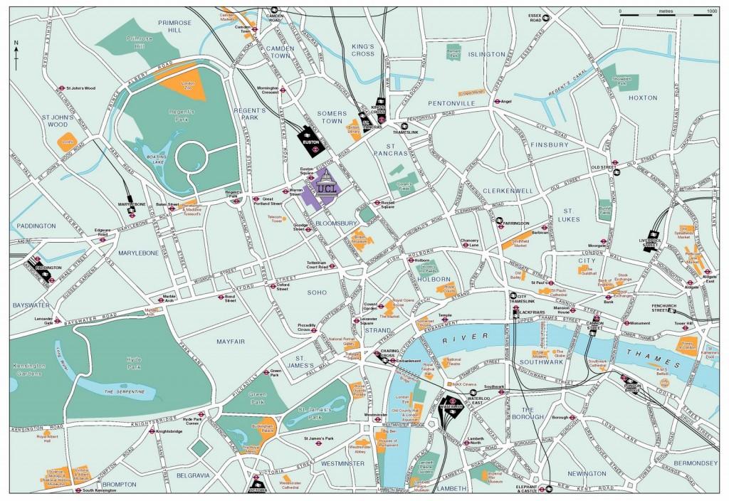 plano turistico de Londres
